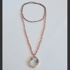 Druzy & Spinel Necklace